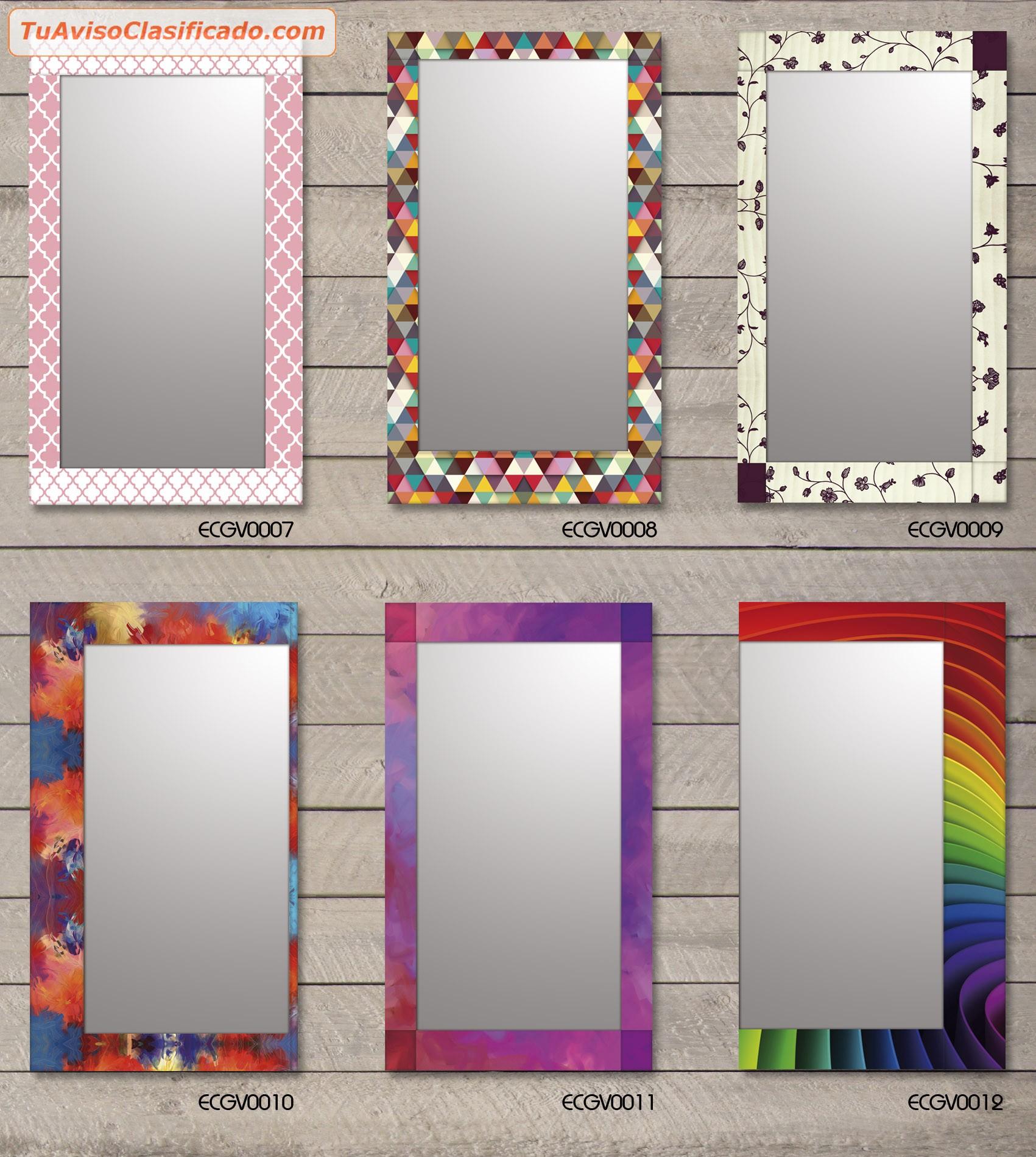 Espejos modernos novedad guardas de vidrio full color el for Marcos para espejos grandes modernos