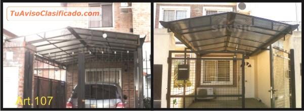 Pergolas para cocheras materiales de construcci n para for Techos para garajes