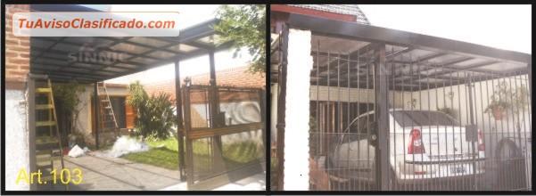 Techos de policarbonato pergolas aleros techos para for Techos de policarbonato para garage