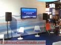 Alquiler de Equipo Audiovisual para Eventos, Proyectores, Sonido, Disck Jockey, Plasmas...