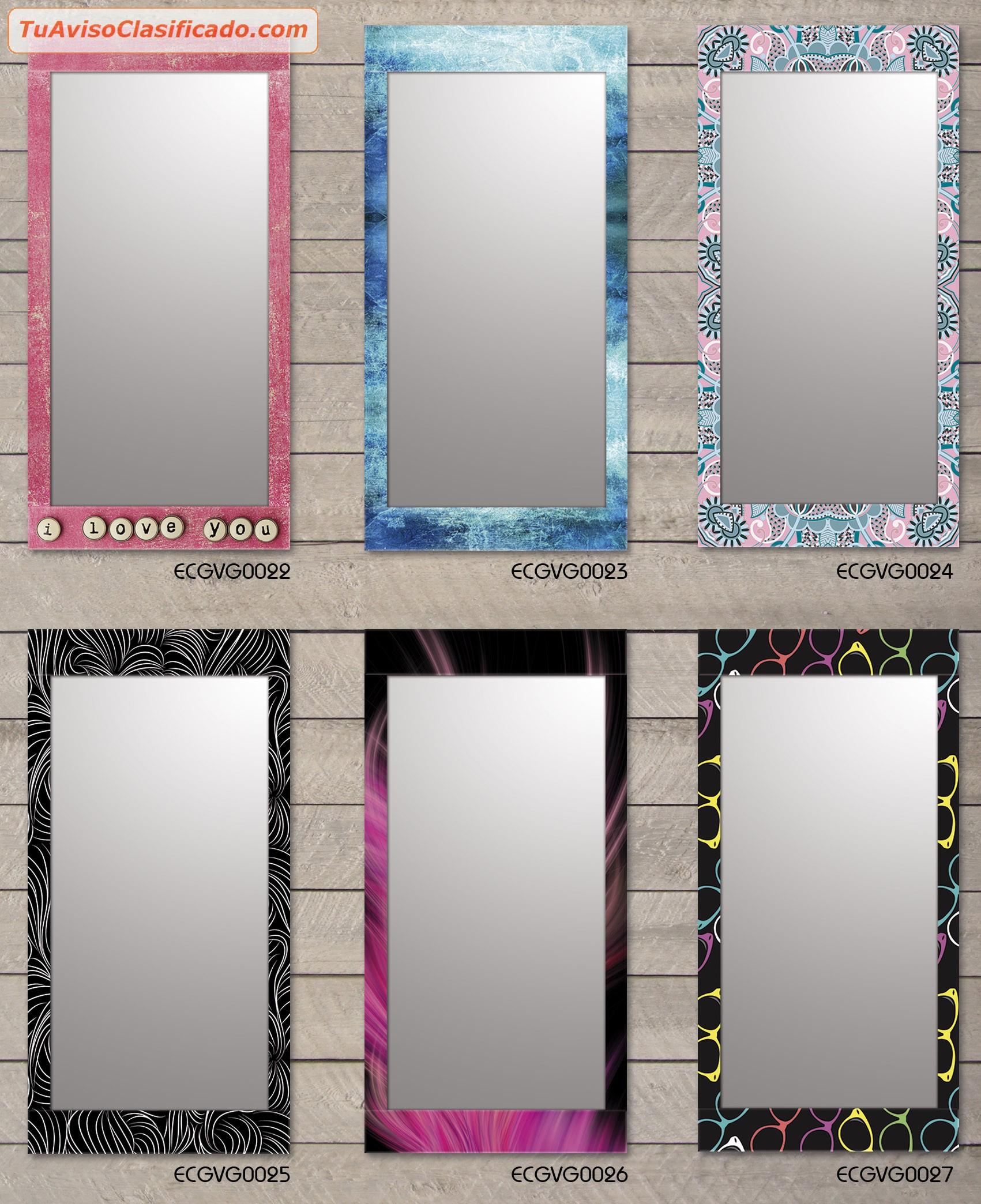 Espejos decorativos living ba o hogar 60x120 cm for Espejos de decoracion modernos