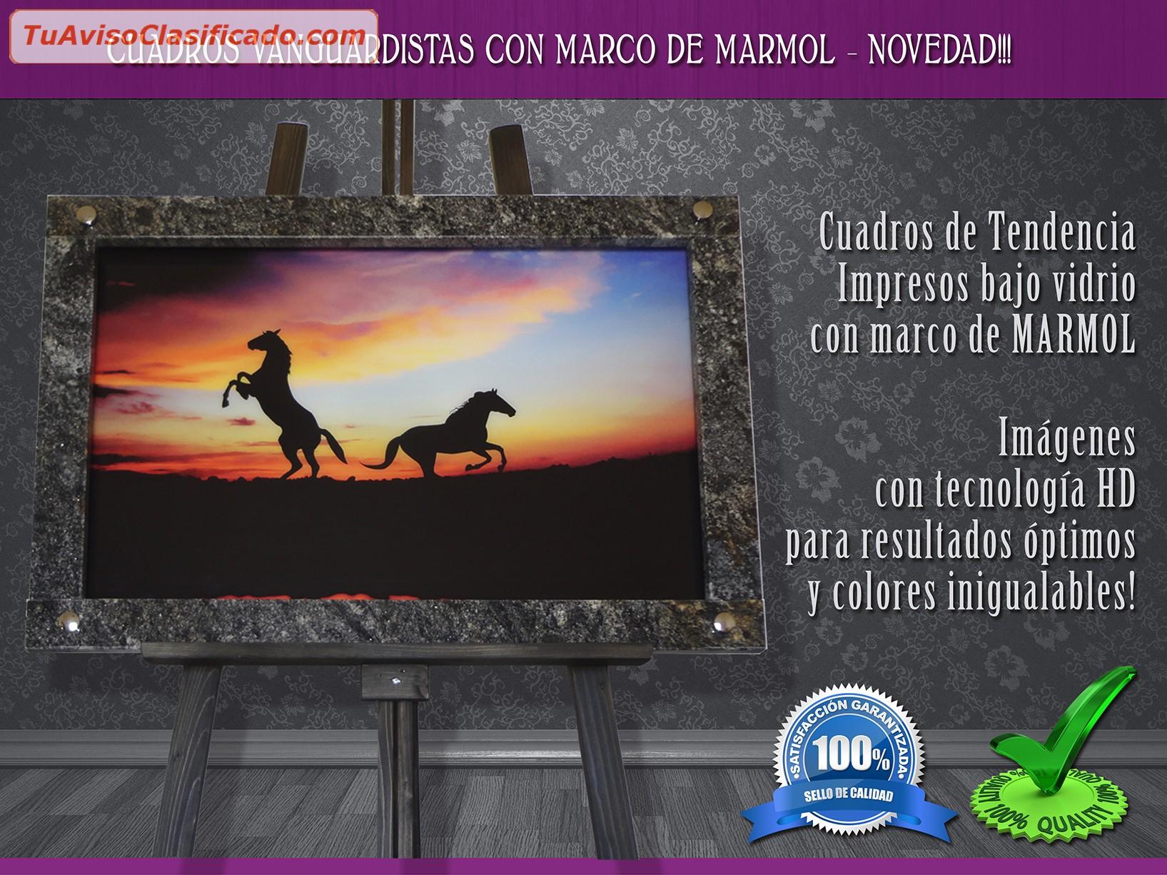 CUADROS MODERNOS MARCO MÁRMOL – EL GLOBO – Únicos!!! 3548-437665 -...